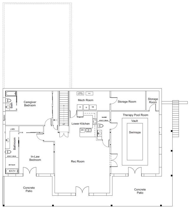 Green Air Retreat National IDEA Home Lower Level