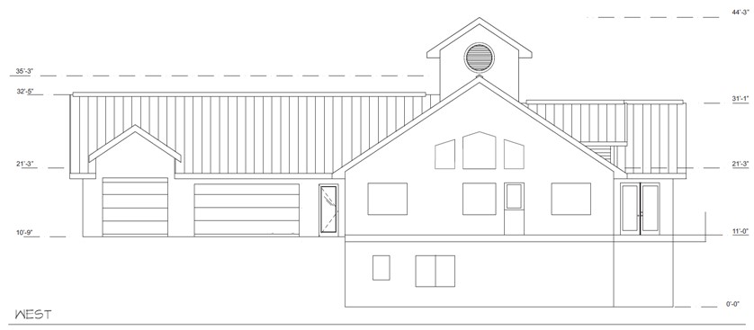 Green Air Retreat National IDEA Home West Elevation